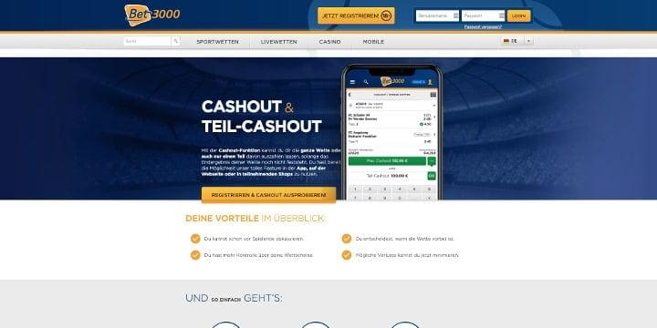 Bet3000 Cashout