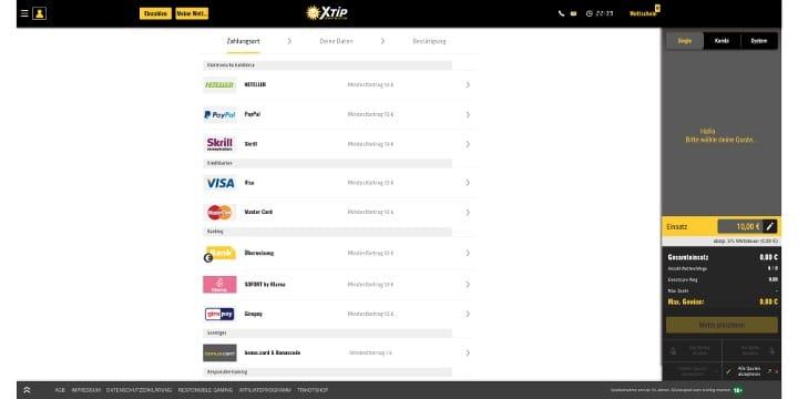 XTiP Zahlungen